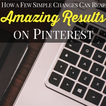 Do you want to grow your blog? Are you looking to make Pinterest work for you? Check out how a few simple changes can reap amazing results on Pinterest!