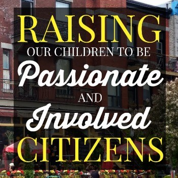 As parents, we naturally want our children to grow into responsible adults. Here are some tips on raising children to be passionate and involved citizens. This post includes some great suggestions to get children involved in their community.