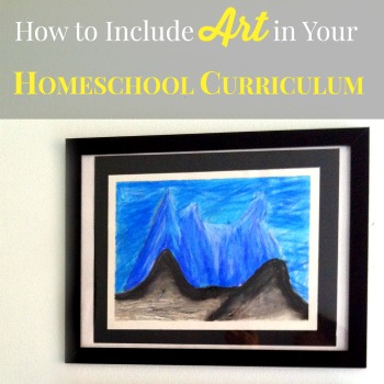"I've heard on several occasions how families feel intimidated by the prospect of ""teaching"" art. Here are some great tips on how to include art in your homeschool curriculum!"