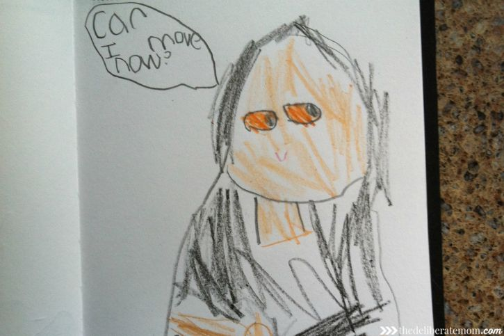 My daughter's version of the Mona Lisa!
