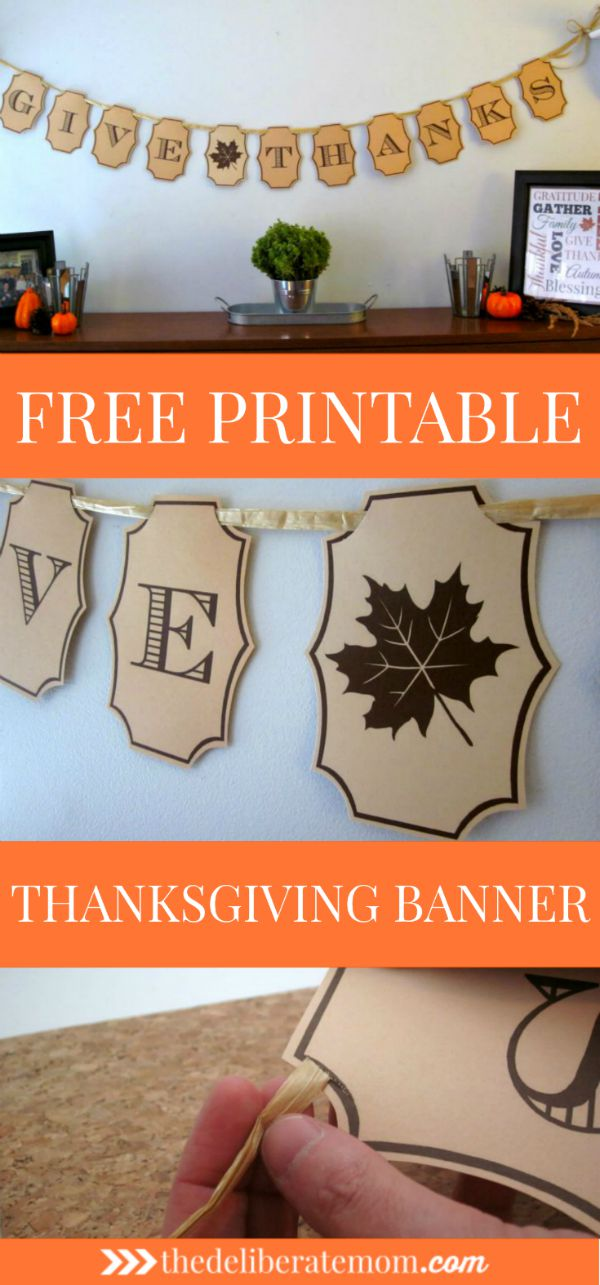 This is a picture of Challenger Thanksgiving Banner Printable