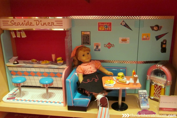 Even my husband liked the American Girl boutique! He loved the MaryEllen diner.