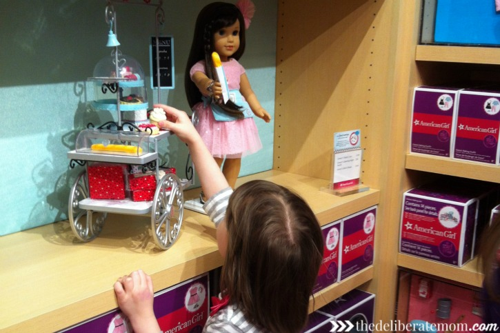There are so many cool displays and accessories in the American Girl boutique.