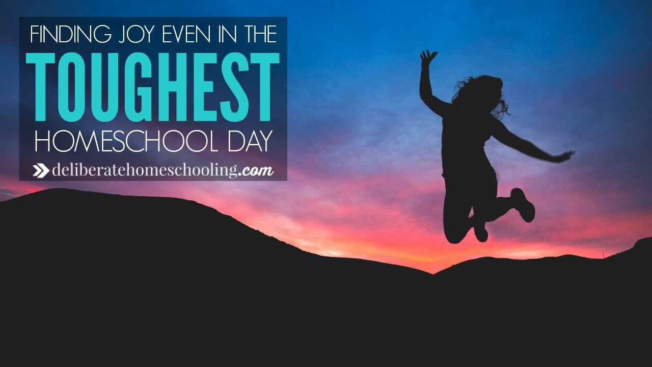 What do you do on your toughest homeschool day? Can you find joy? Here are some suggestions to help you recover your joy after a bad day.