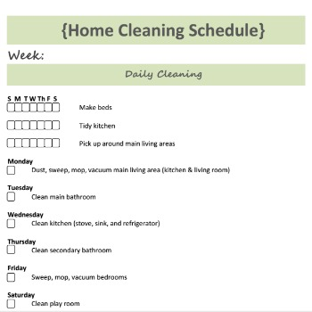 An Efficient Cleaning Routine Free Cleaning Checklist Included