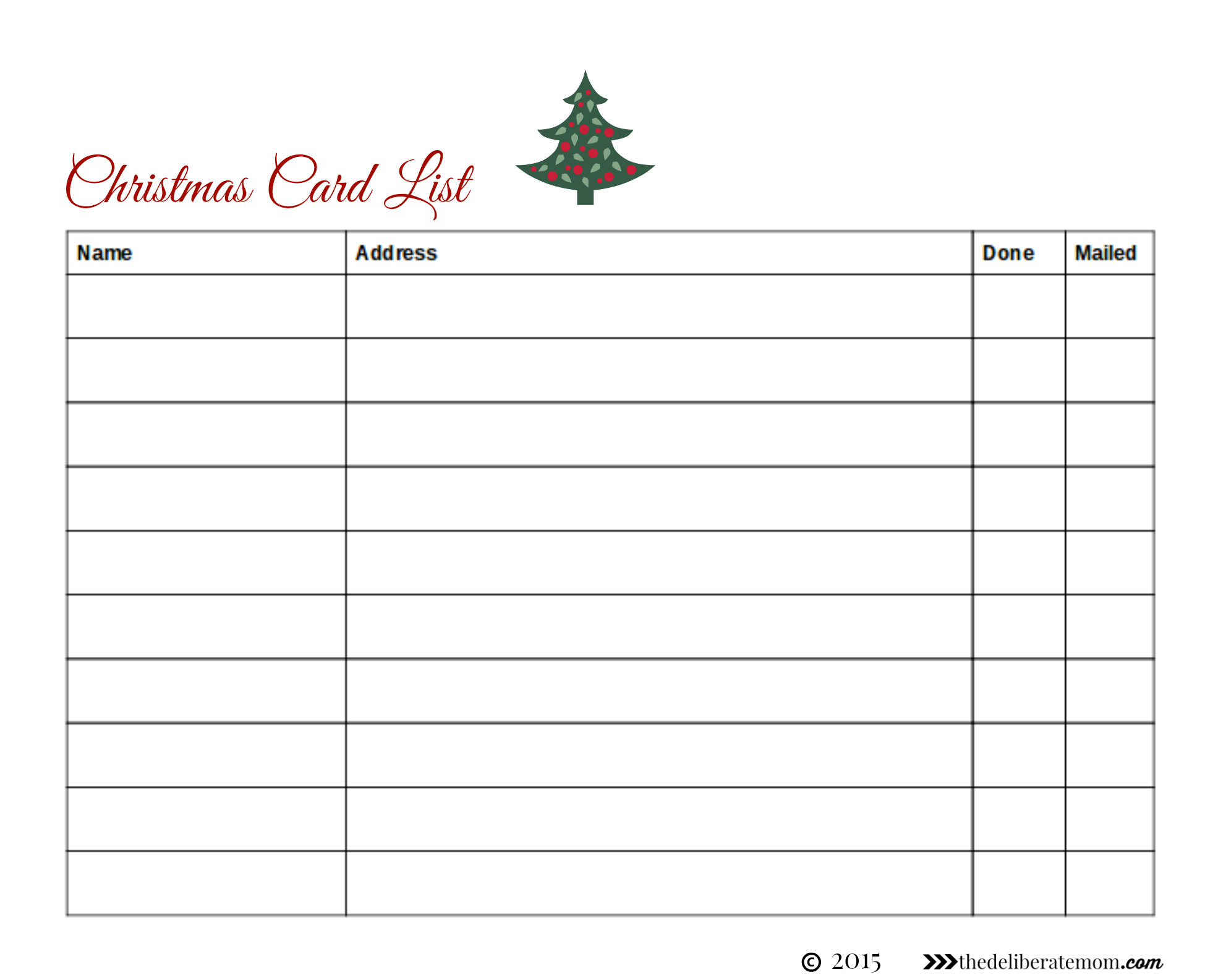 Christmas Card Address List Organizer Book Holiday Cheer