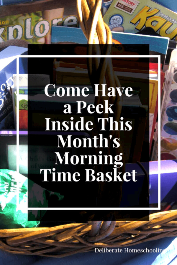 I love our homeschool Morning Time. Come have a sneak peek at the contents of one of our Morning Time Baskets.