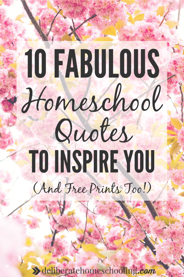 Tough homeschool day? I love famous quotes and like to collect them. Check out these 10 fabulous homeschool quotes to inspire you and uplift your spirits!