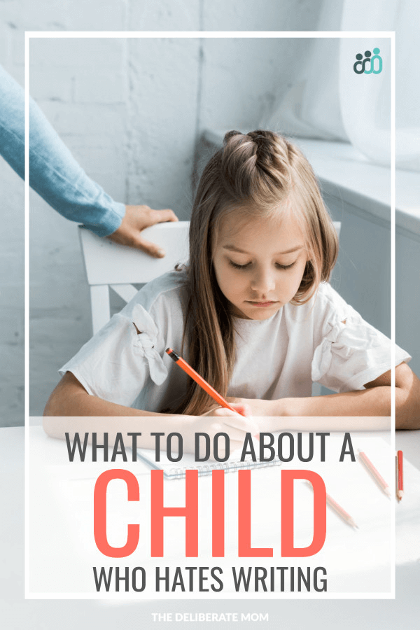 Homeschooling a reluctant writer - what to do about a child who hates writing