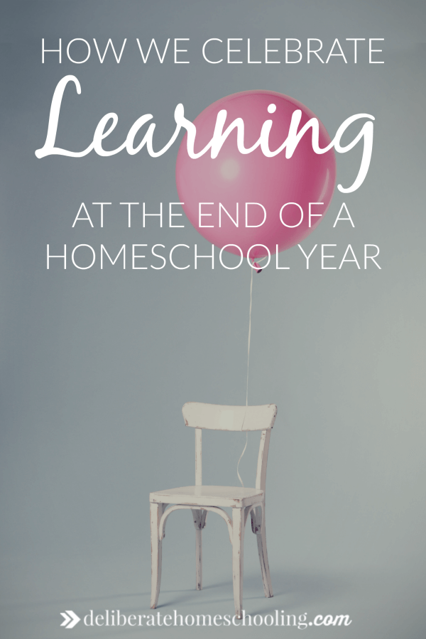 Every year, to commemorate the passing of a grade, we celebrate learning from the year. Here's what our homeschool celebration of learning looks like!