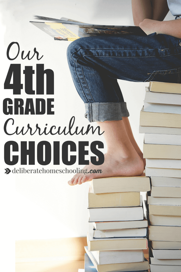 Do you love homeschool planning? I get a thrill in gathering curriculum for a new homeschool year! Come check out our 4th grade homeschool curriculum choices!