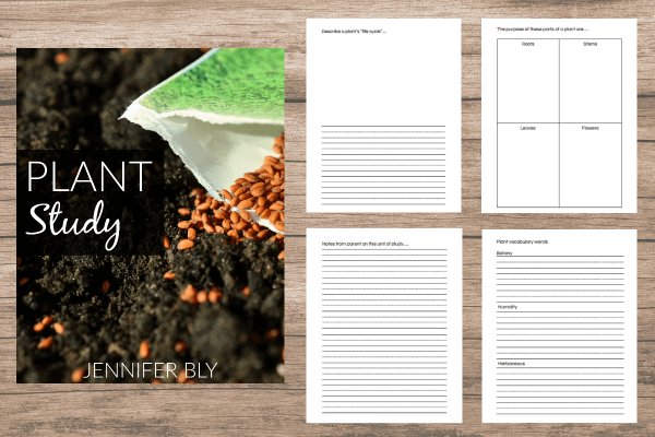Check out this beautiful and complete 21-page plant study notebooking set!