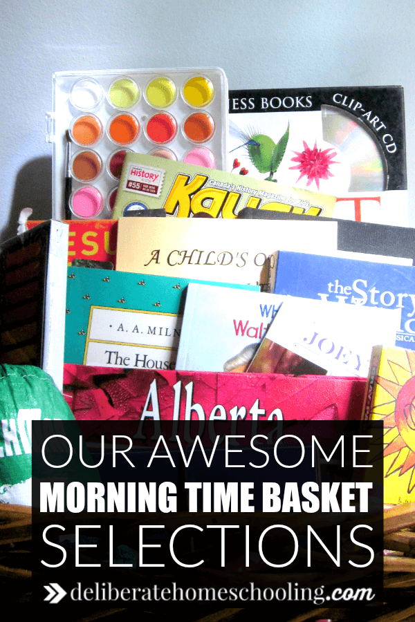 Our morning time basket changes regularly. Check out the contents of this month's Morning Time Basket. We have all sorts of awesome materials to study!
