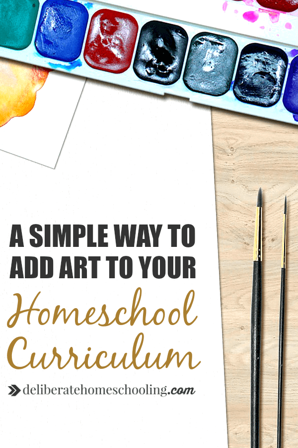 MUST read this! Are you overwhelmed by the idea of adding art instruction to your homeschool curriculum? Check out this simple and amazing solution!