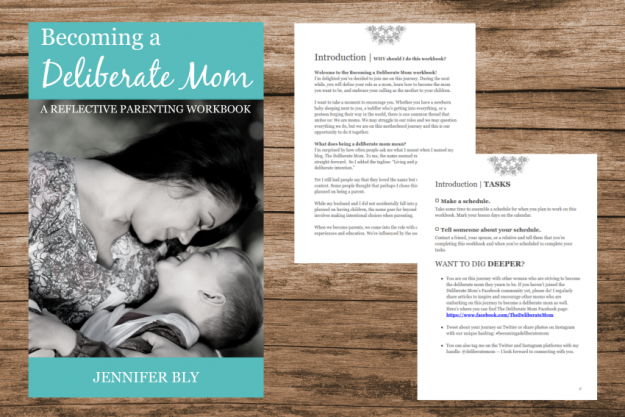 Become the mom you want to be! Check out the Becoming a Deliberate Mom reflective parenting workbook. Become the mom you want to be... starting today!