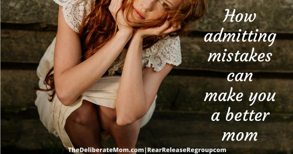 We all make mistakes but did you know that admitting mistakes can make you a better mom?! You don't want to miss this post!