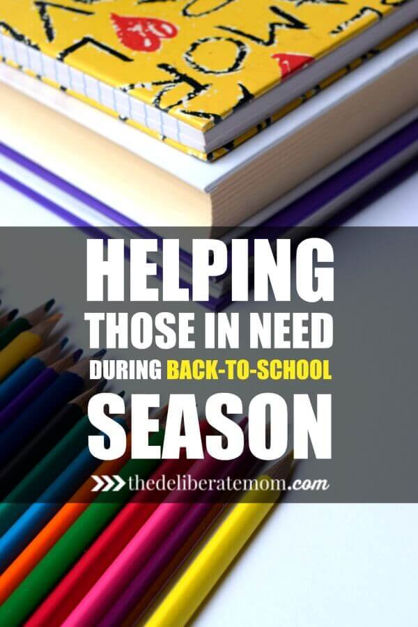 Back-to-school season can be a huge burden on financially needy families. Here are some ways that we can help others during this expensive time of year!