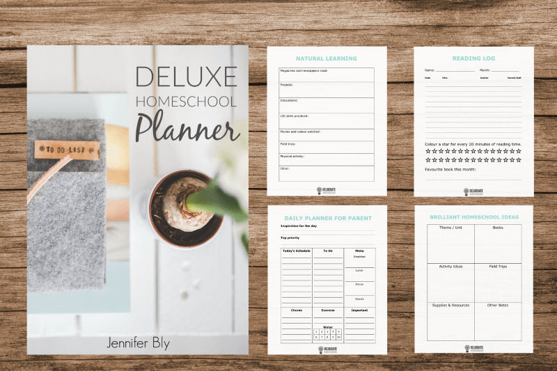 Take your homeschool planning to a whole new level with this 29-page DELUXE homeschool planner!