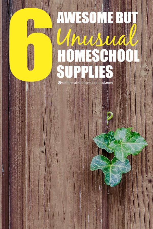 We use many materials for homeschooling but here are 6 awesome but unusual homeschool supplies which you may not be using yet! Every homeschool should check out this post!