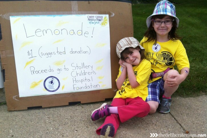Life currently, lemonade stand fundraiser for the Stollery Children's Hospital.