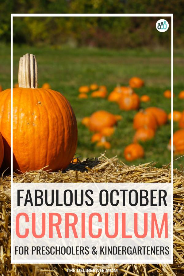 Fabulous October curriculum for preschoolers and kindergarteners