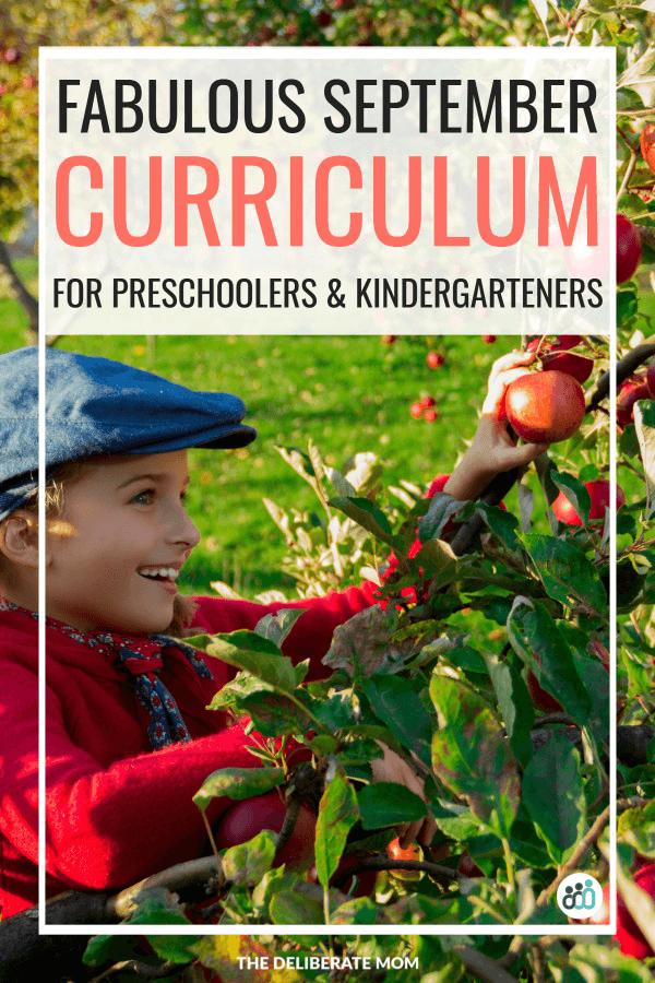 September curriculum for preschoolers and kindergarteners