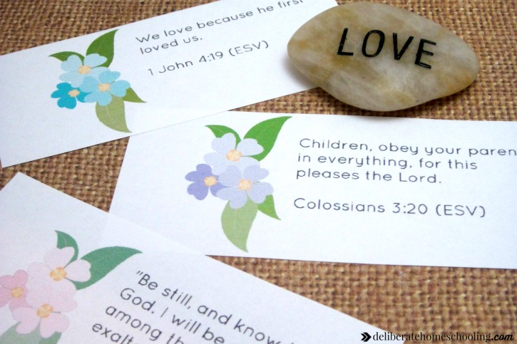Scripture memorization is one of the practical and simple suggestions for how to build your child's faith. Whether you homeschool or not, these faith-building ideas can be used in any home!