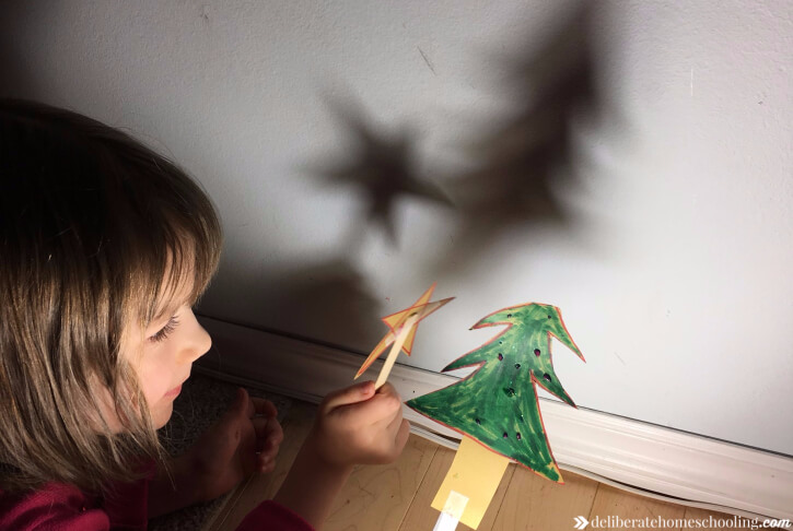 Christmas shadow puppets.