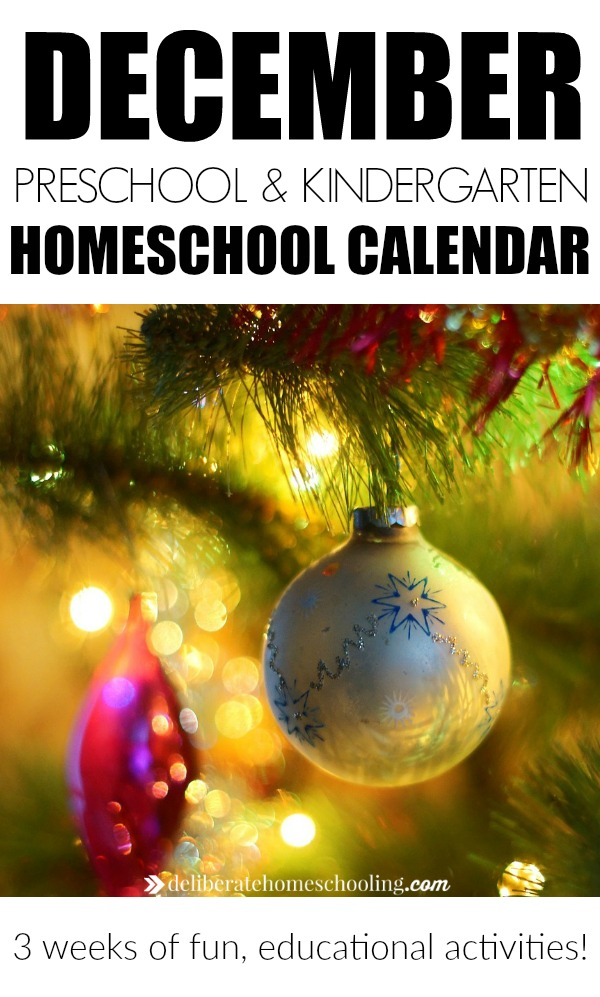 December kindergarten planning (also suitable for preschool planning). Includes links to activities, crafts, and recommended books for your homeschooler!