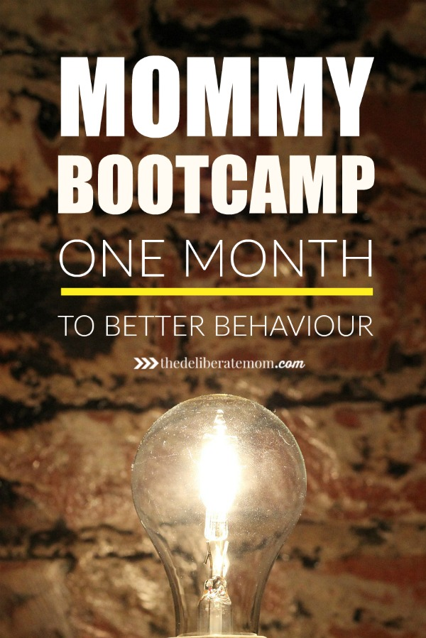 One month to better behaviour? It can happen! Consider your own mommy bootcamp! Take a month to improve your parenting, get your child's attention, and control your mom anger.