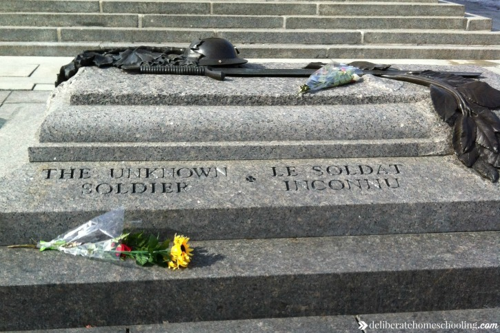 The tomb of the Unknown Soldier in Ottawa.
