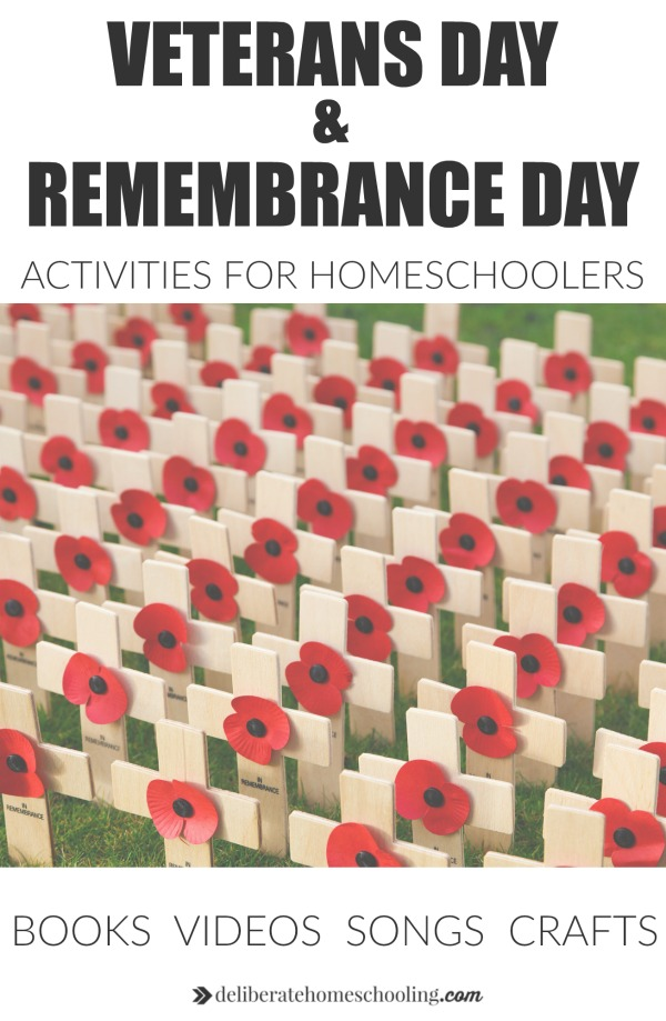 Check out these Veterans Day Activities / Remembrance Day Activities for homeschoolers. Recommended books, videos, poppy crafts, and more.