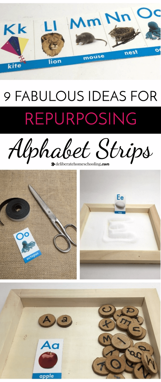 Alphabet borders don't have to just be for bulletin boards! Check out these ideas for how to repurpose and use alphabet borders as learning resources!