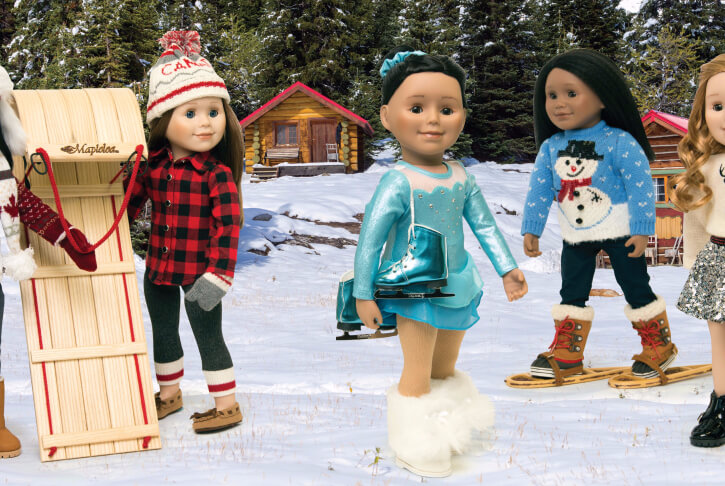 This skating dress is a gorgeous outfit to add to your Maplelea Doll's wardrobe.
