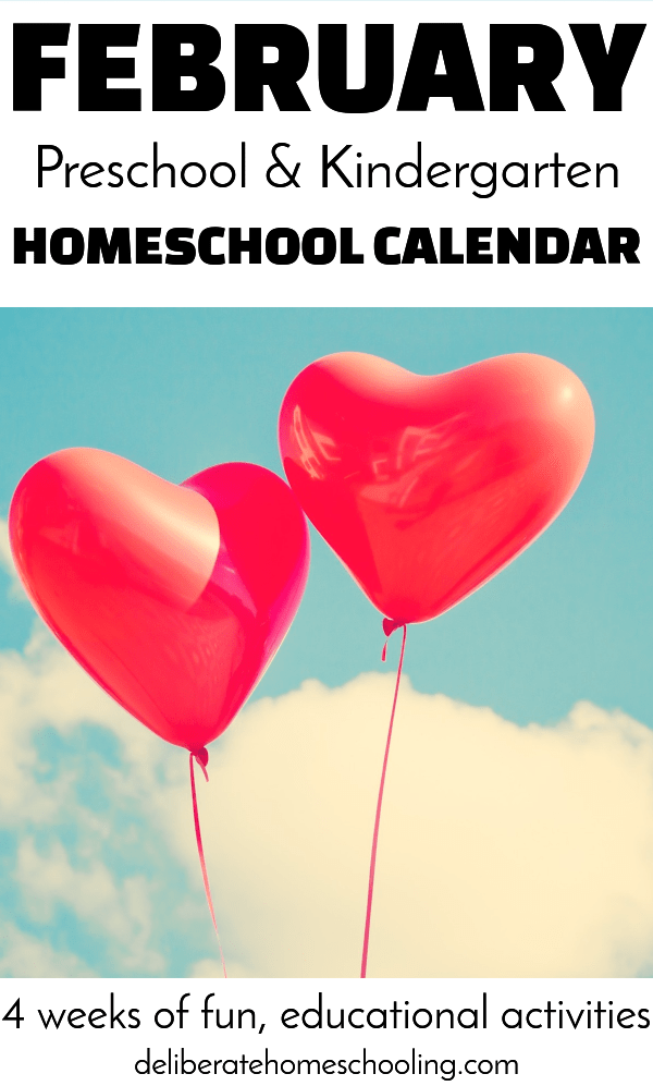 Struggling to come up with educational ideas for your young homeschoolers? Check out this February Preschool / Kindergarten calendar for inspiration!