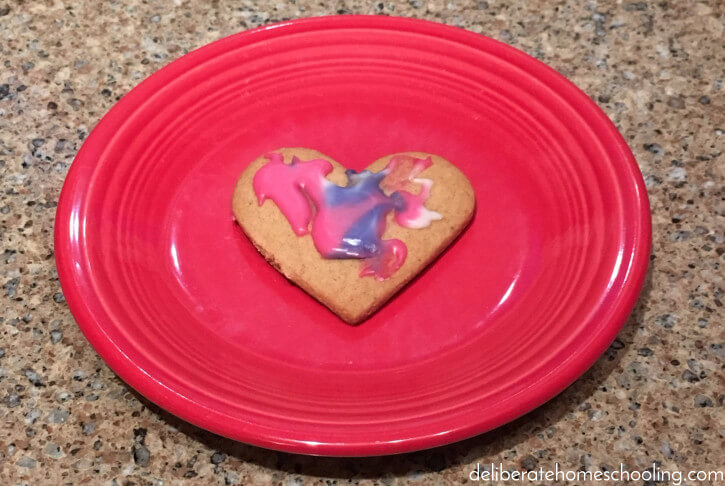 It's so much fun to make Valentine's cookies with preschoolers!