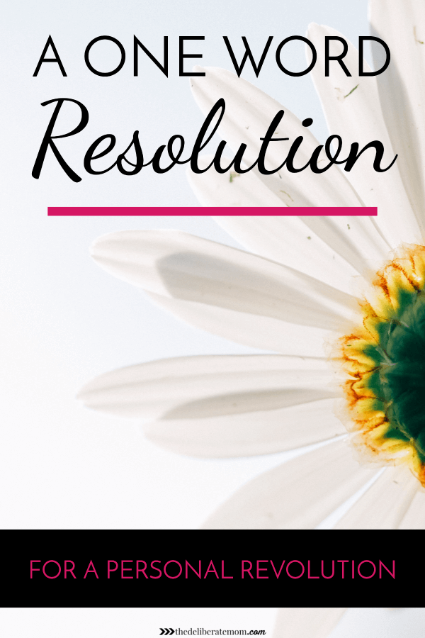 The one word resolution has been around for a while but I never participated... until now. The word I've chosen will bring about a personal revolution. Come read about my one word resolution - maybe it will inspire you to choose a word as well.