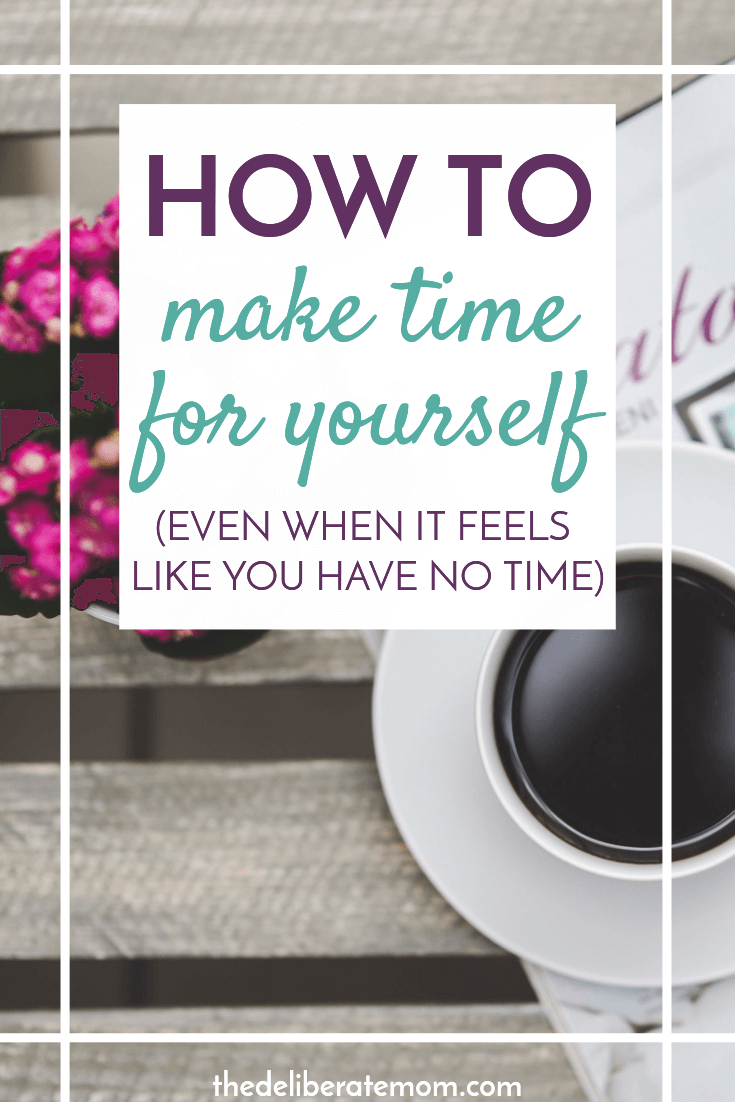 Are you a busy mom and you're not sure how to make time for yourself? Your complete resource of 5 minute, 15 minute, 30 minute and 1+ hour breaks is here to rescue you! Plus figure out a way to consistently make time for self-care! #selfcare