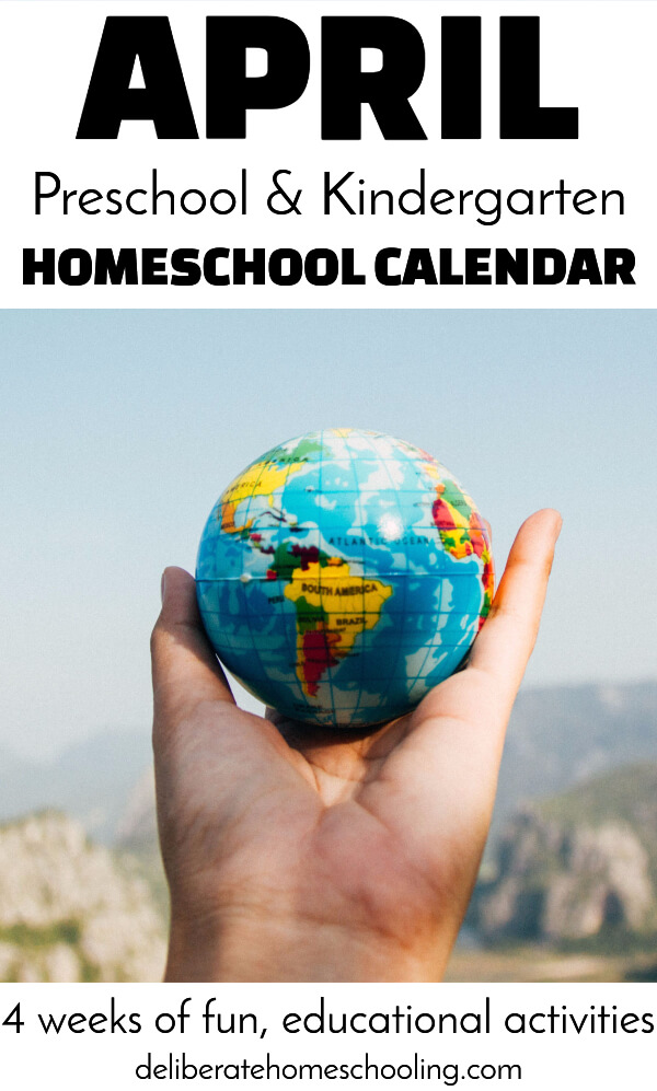 Teach your young preschooler (or kindergartener) about trees, birds, Earth Day, and gardening! Check out this April calendar for educational activities to plan your child!