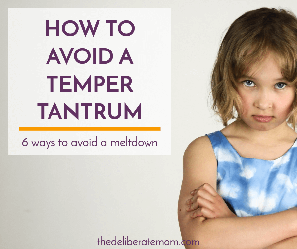 how parents can avoid temper tantrums