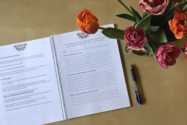 A glimpse inside Get Reflective - a 7 week reflective parenting journal.