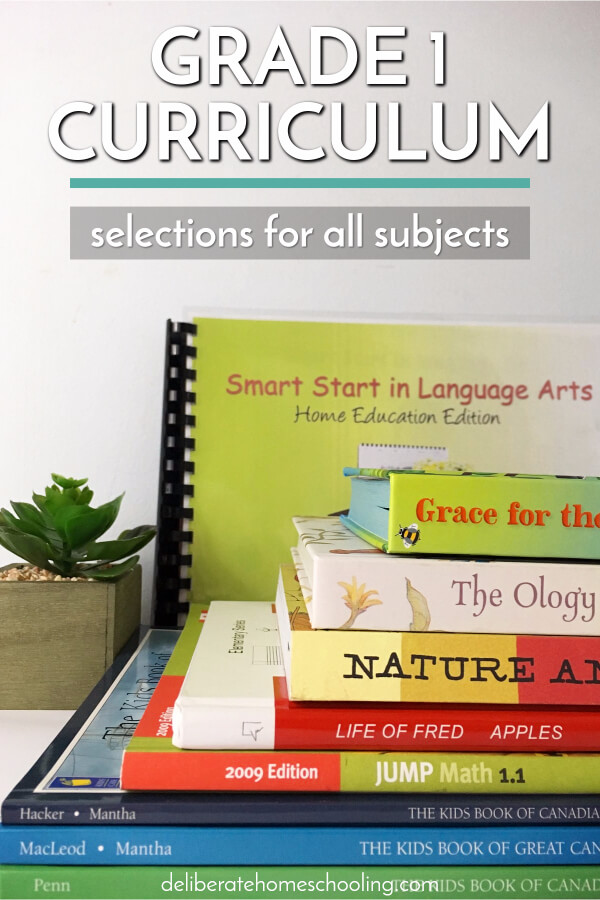 Sometimes picking your homeschool curriculum can be overwhelming. Come check out our grade 1 curriculum choices and what books we're using in all subjects.
