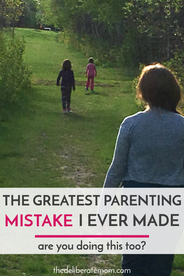 Parents will make mistakes, but some mistakes are avoidable. This is one mom's greatest parenting mistake. Are you making the same one?