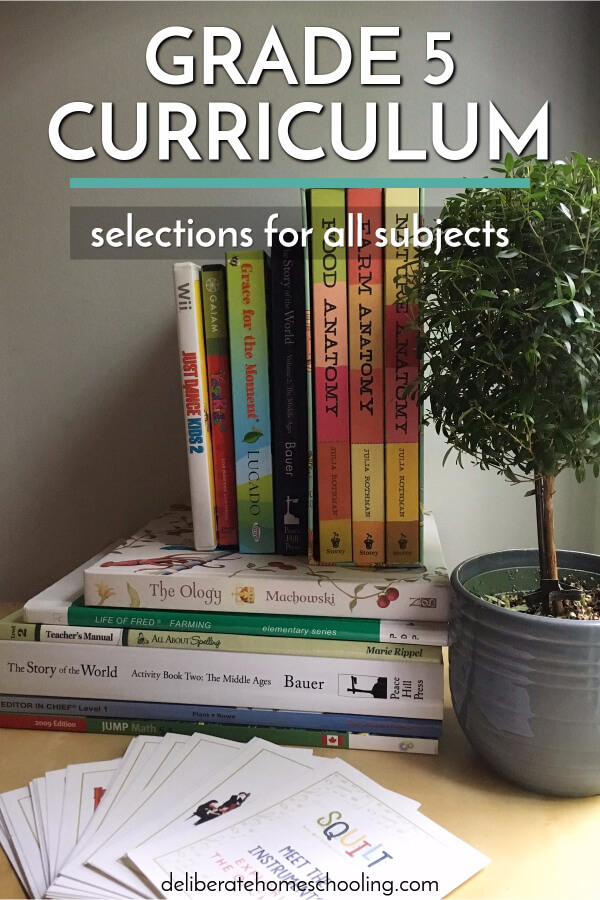 Sometimes picking your homeschool curriculum can be overwhelming. Come check out our grade 5 curriculum choices and what books we're using in all subjects.