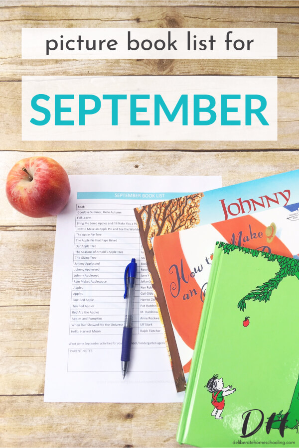 Picture books are a significant part of our homeschool curriculum. Books are a wonderful way to teach children and introduce new concepts. Here is our September picture books list. INCLUDES A FREE DOWNLOADABLE BOOK LIST!