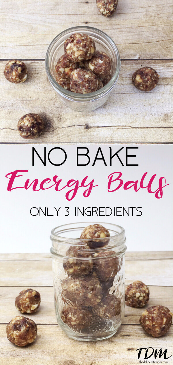 These no bake, 3 ingredient energy balls are delicious and nutritious! Eat these when you're craving sugary sweet snacks and your cravings will be satisfied. Perfect for the sugar-free diet!