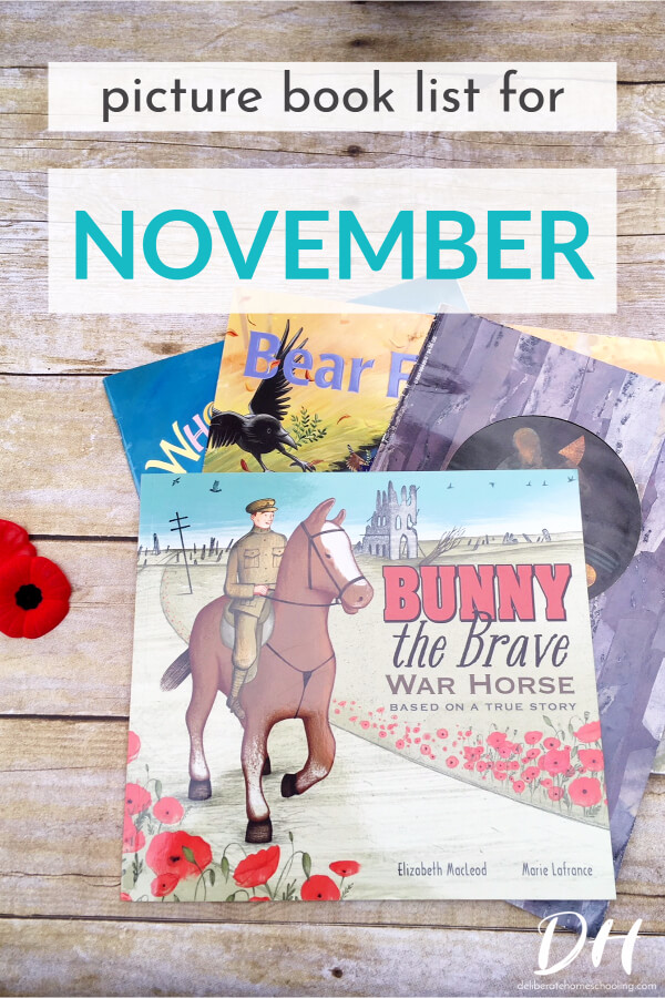 Picture books are a major part of our homeschool curriculum. Books are a wonderful way to teach children. Here is our November picture books list.