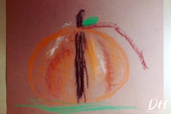 This Pumpkin Chalk Pastel Artwork is fabulous for a unit study on pumpkins!
