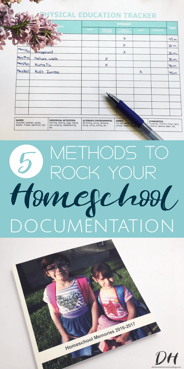 Often homeschoolers think that homeschool documentation is overwhelming and time-consuming, but it doesn't have to be! Simply try one, three, or all of these methods! You'll be impressed by how easy it is to document homeschool learning! #homeschoolplanning #homeschool #homeschooldocumentation #homeschoolorganization