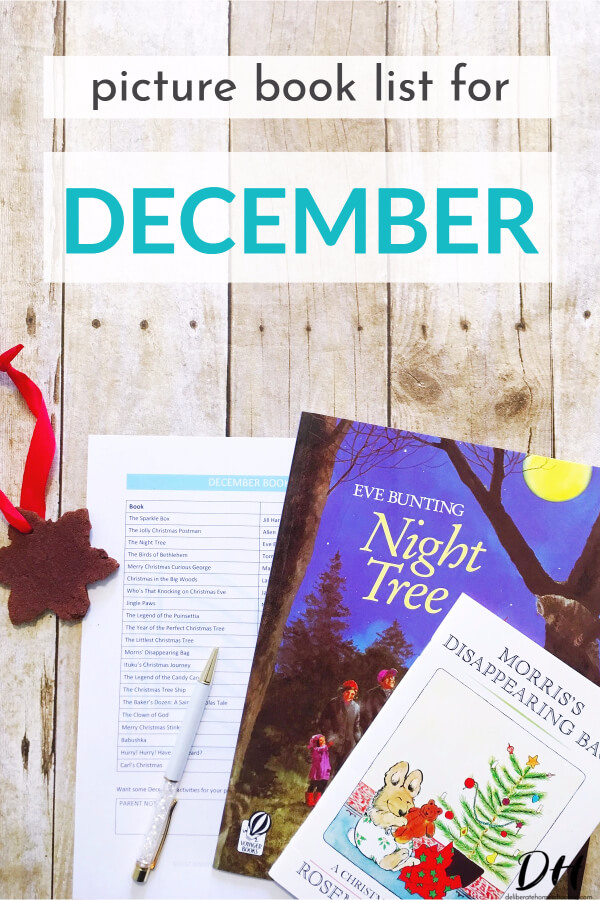 Picture books are a significant part of our homeschool curriculum. Books are a wonderful way to teach children and introduce new concepts. Here is our December picture books list.